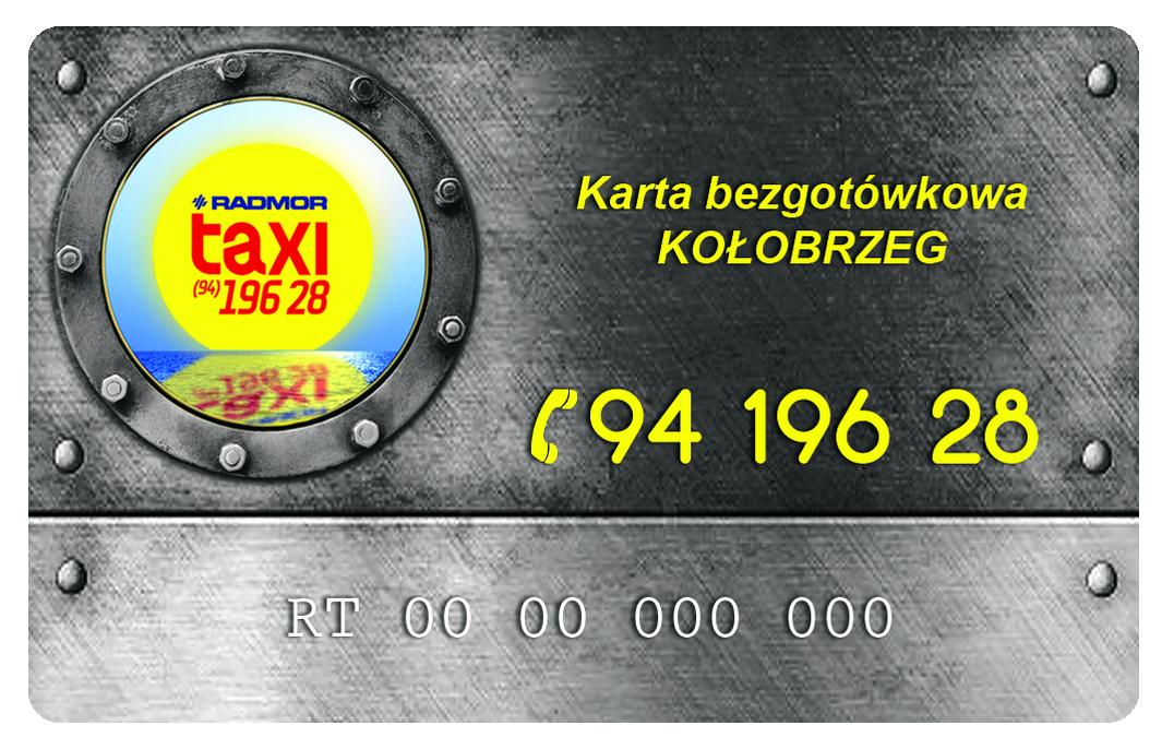 24h TAXI tel 94-196-28. Nord Taxi Kołobrzeg - karta bezgotówkowa