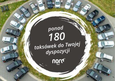 Ponad 180 taksówek do Twojej dyspozycji w Nord TAXI - Zamów dowolną taksówkę:+48 600-950-950